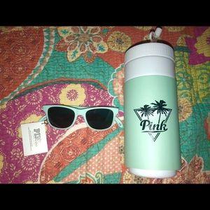 Victoria's Secret Pink sunglasses & drink cup.